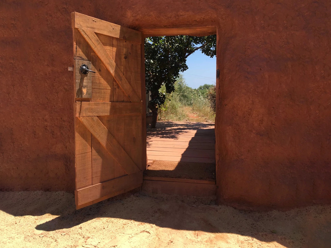 A doorway within Phaedra at The Beekeepers